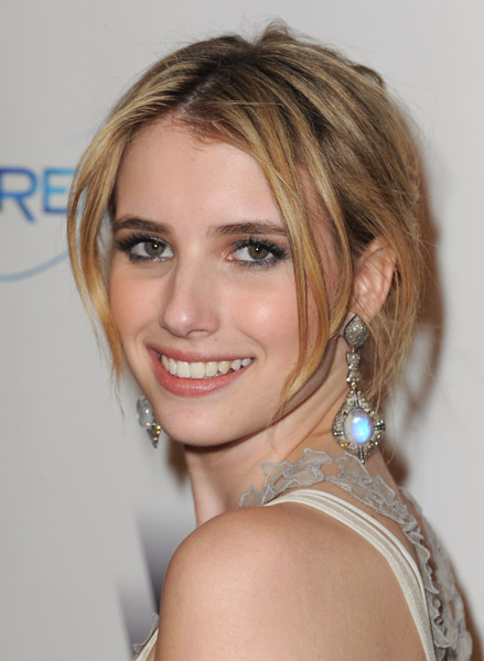 Emma Roberts's illuminating earrings.
