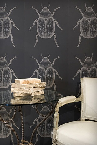 I've noticed beetles creeping into the decor landscape, including this incredible, oversize Porter's Paints Beetles Wallpaper.