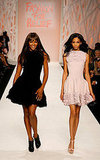 Supermodels Naomi and Chanel Iman share the runway in Alaia for a Fashion For Relief charity show.