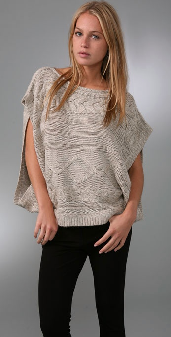 LaROK Luxe Jillian Poncho Top ($188, originally $268)