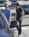 Jake Gyllenhaal Has a Guys-Only Post-Globes Afternoon