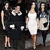 Pictures of Kourtney and Kim Kardashian Visiting The Today Show in NYC