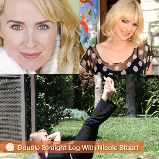 Celeb Trainer Nicole Stuart Shows Us Double Straight Leg Stretch