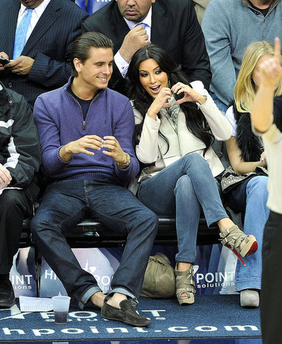 Pictures of Kim Kardashian and Scott Disick at the New Jersey Nets Game 2011-01-20 09:57:09