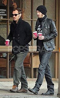 Pictures of Jude Law Getting Coffee in London With Friend