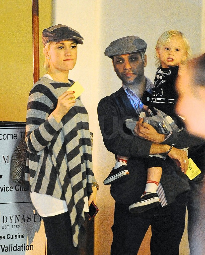 Pictures of Gwen Stefani, Tony Kanal, and Zuma Rossdale Grabbing Dinner in LA