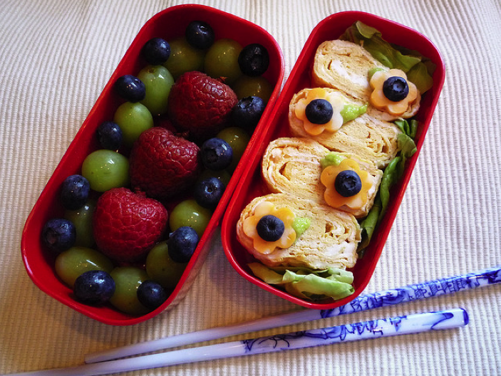 Fruit and Sammie Bento