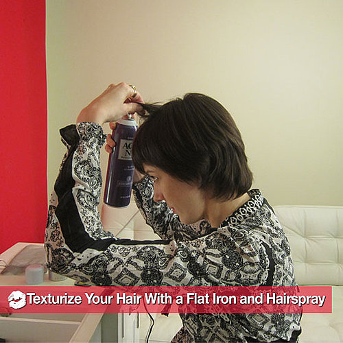 How to Texturize Your Hair With a Flat Iron and Hair Spray