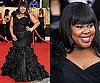 Amber Riley Wears a Black Dramatic Gown to SAG Awards 2011