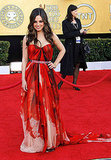 Mila Kunis was dramatically sexy in Alexander McQueen.