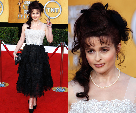 Helena Bonham Carter Wears Matching Black Pumps to SAG Awards 2011 2011-01-30 18:02:26