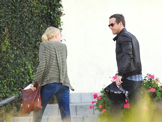 Emma Stone and Ryan Reynolds Start Their Workday With a Hug