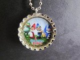 Bottle Cap Gnome Necklace