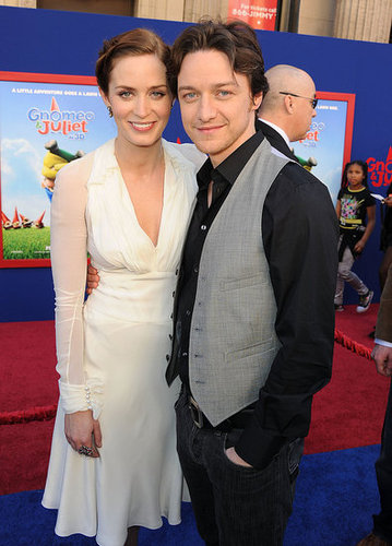 Photos de James McAvoy et Emily Blunt a l avant premiere de Gnomeo et Juliet a Hollywood