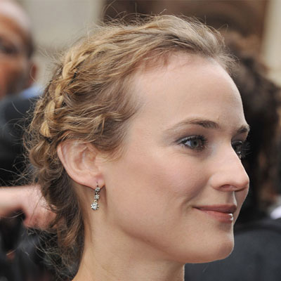 Side-Parted Braid Updos Are Trendy For 2011