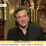 Colin Firth Reacts to His Oscar Nomination on The Today Show 2011-01-25 11:56:48