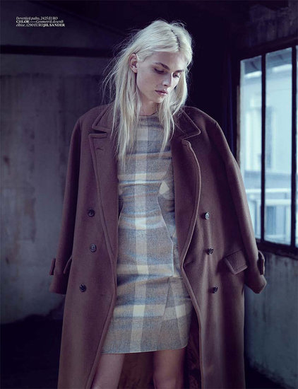 Andrej looks beautiful in a Chloé coat.