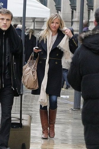 Pictures of Cameron Diaz and Alex Rodriguez Arriving in Paris