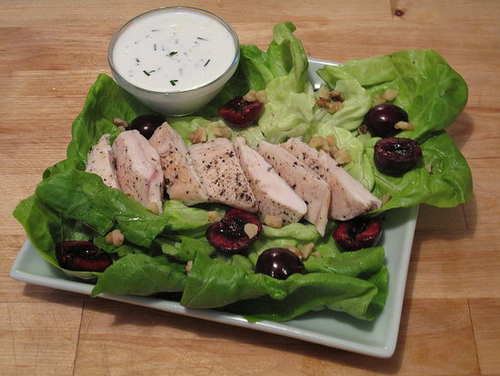 Chicken Salad With Goat Cheese Dressing