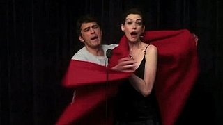Video of James Franco and Anne Hathaway Preparing to Host the Oscars 2011-01-27 13:25:00