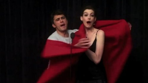 Video of James Franco and Anne Hathaway Preparing to Host the Oscars