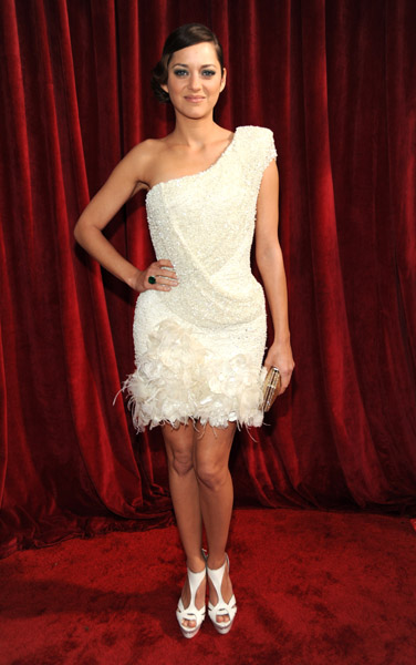 Marion Cotillard in short and fabulous Elie Saab in 2010.