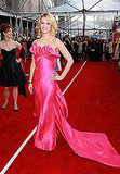 January Jones showed off her affinity for bold red carpet gowns in 2008.