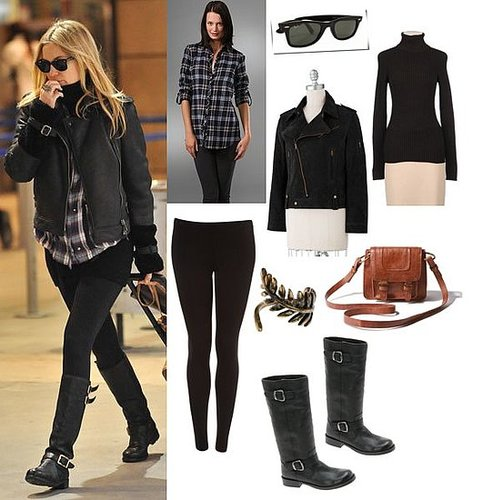 Kate Hudson Wearing Motorcycle Boots and Jacket