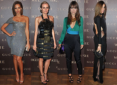 Jessica Alba, Diane Kruger, Anna Wintour and Carine Roitfeld Glam Up For Gucci's Gala Dinner