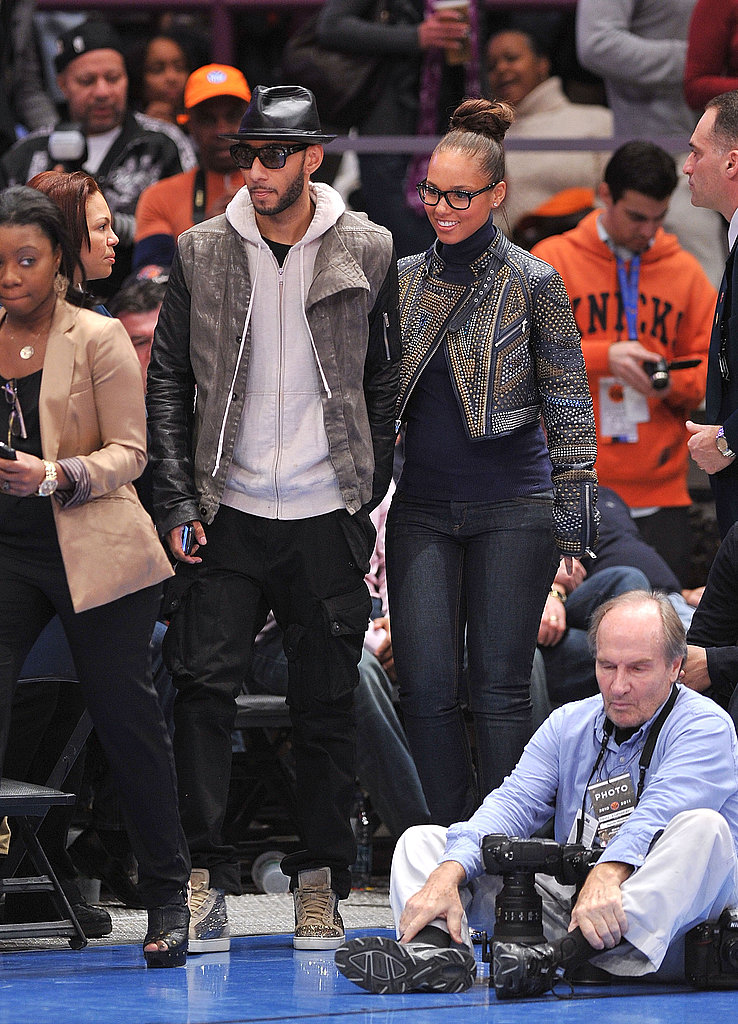 Alicia and Swizz Celebrate a Knicks Win Over the Heat With Kisses and Kanye