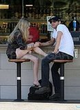 Ryan Phillippe Holds Hands With Amanda Seyfried and Strokes Her Legs Over Coffee