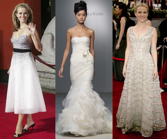 Since Reese Witherspoon is engaged, we picked out some fabulous wedding dresses for her. Check them out.
