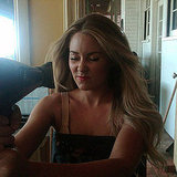 Lauren Conrad worked on her hot hairstyle.  Source: Twitter user laurenconrad