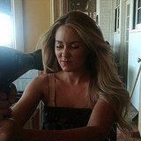 Lauren Conrad worked on her hot hairstyle.  Source: Twitter user laurenconrad
