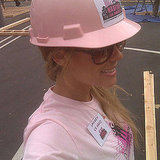 Lauren Conrad suited up to volunteer with Habitat For Humanity.  Source: Twitter user laurenconrad