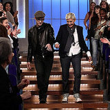 Justin Timberlake stopped by the Ellen DeGeneres Show in December 2010.