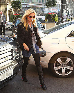 Pictures of Kate Moss Heading Into a London Hotel