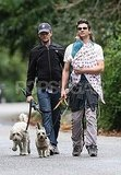 NPH and David Wrap Up Twins Gideon and Harper For a Walk