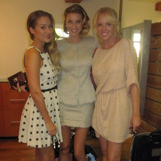 Lauren Conrad, Whitney Port, and her makeup artist Amy Nadine got ready for a girls' night out.  Source: Twitter user laurenconrad