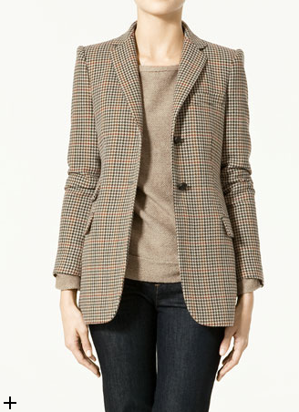 Zara Checked Blazer ($50, originally $130)