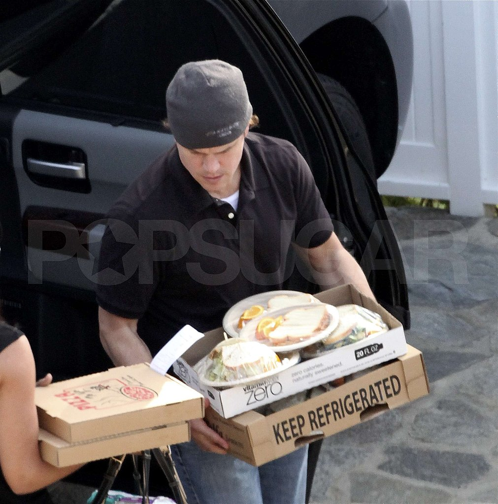 Matt Damon Is the Life of the Malibu Beach Party — With Sandwiches!