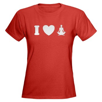 I Love Yoga Women's Dark T-Shirt