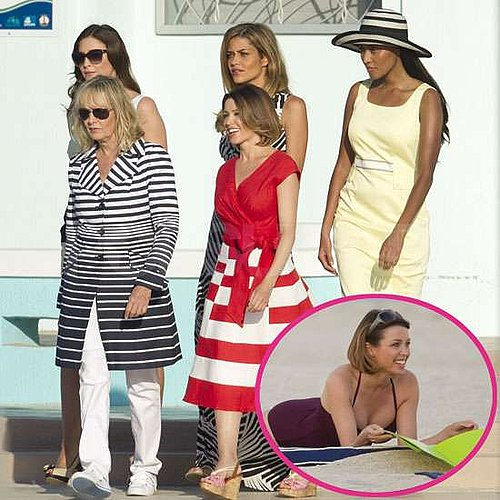 Pictures of Dannii Minogue in Swimsuite Filming M&S Ad in Miami