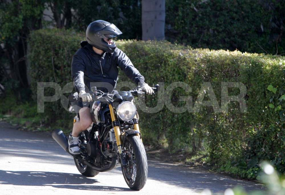 Orlando Bloom Takes a Ride Close to Home
