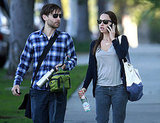Pictures of Tobey Maguire and Jennifer Meyer Walking in LA