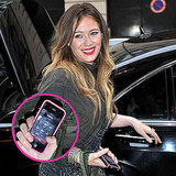 Pictures of Hilary Duff Holding Call From Mike Comrie in Paris