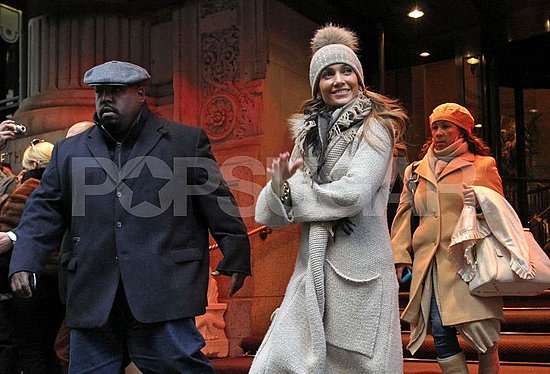 Pictures of Jennifer Lopez and Marc Anthony at FAO Schwarz in NYC