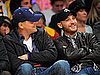 Pictures of Inception Costars Tom Hardy and Leonardo DiCaprio at Lakers Game Feb 2011