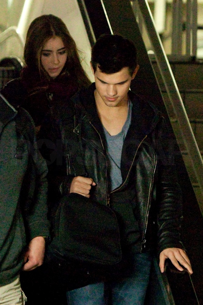 Birthday Boy Taylor Lautner Touches Down With Lily Collins
