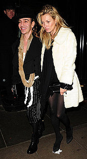 Pictures of Bride-to-Be Kate Moss Getting Dinner in London With John Galliano